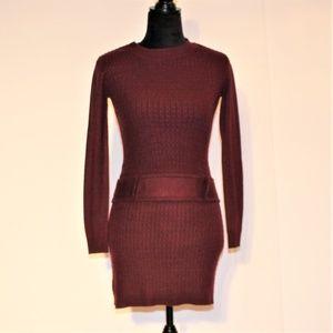 BCX Knit sweater long sleeve dress XS